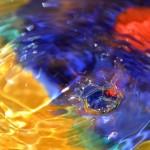 Plac. 3. Droppen - Roland Berglin.  Annorlunda droppbild som tilltalade oss med sin färgprakt.