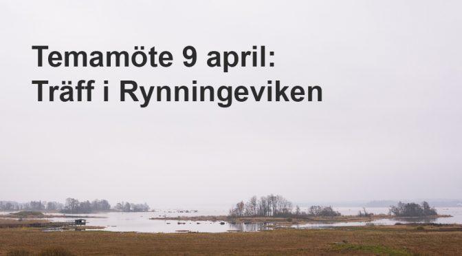 Temamöte 9 april